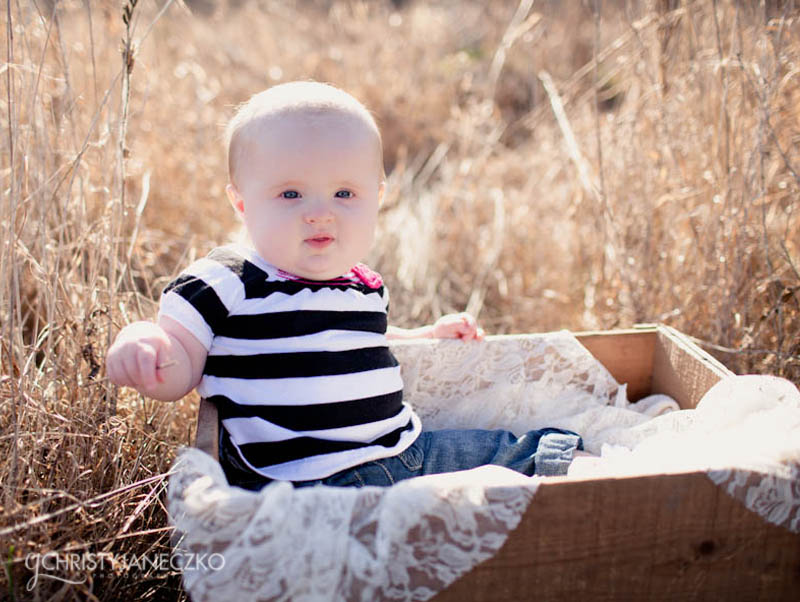 6 month old baby session wi