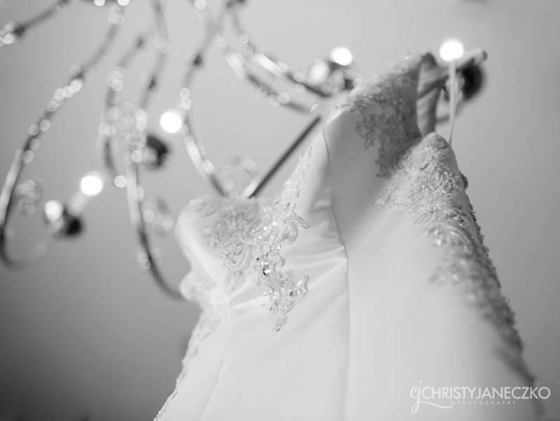 brides gown chandelier